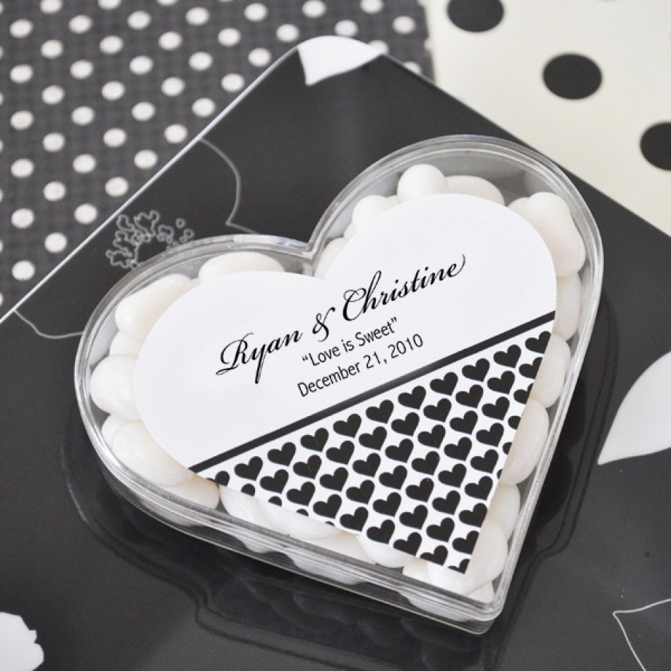 Clearly in Love Personalized Heart Acrylic Favor Boxes | Wedding ...