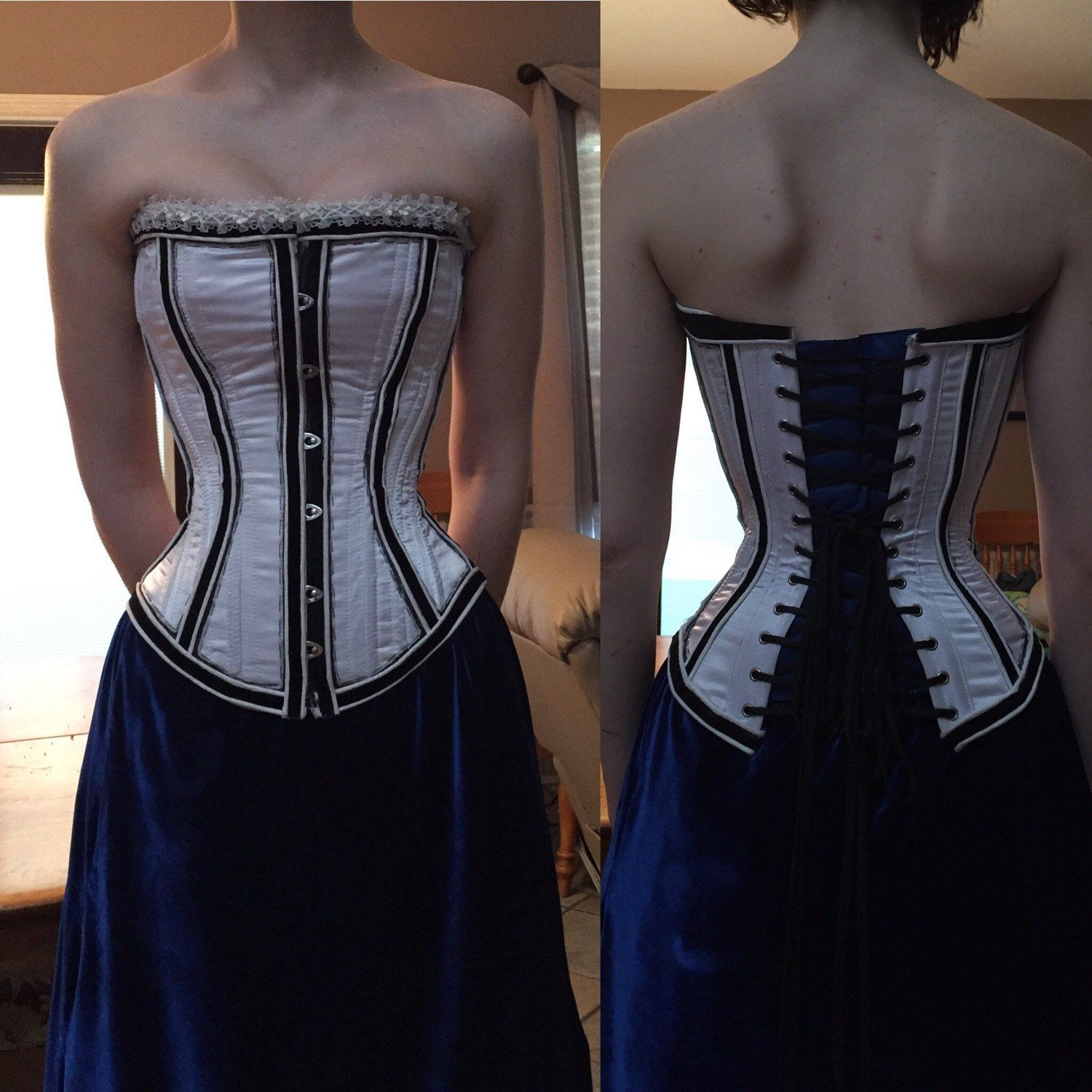 5db3d93c5f9 Elizabeth Comstock Cosplay Corset by LittleSongbirdStore on Etsy