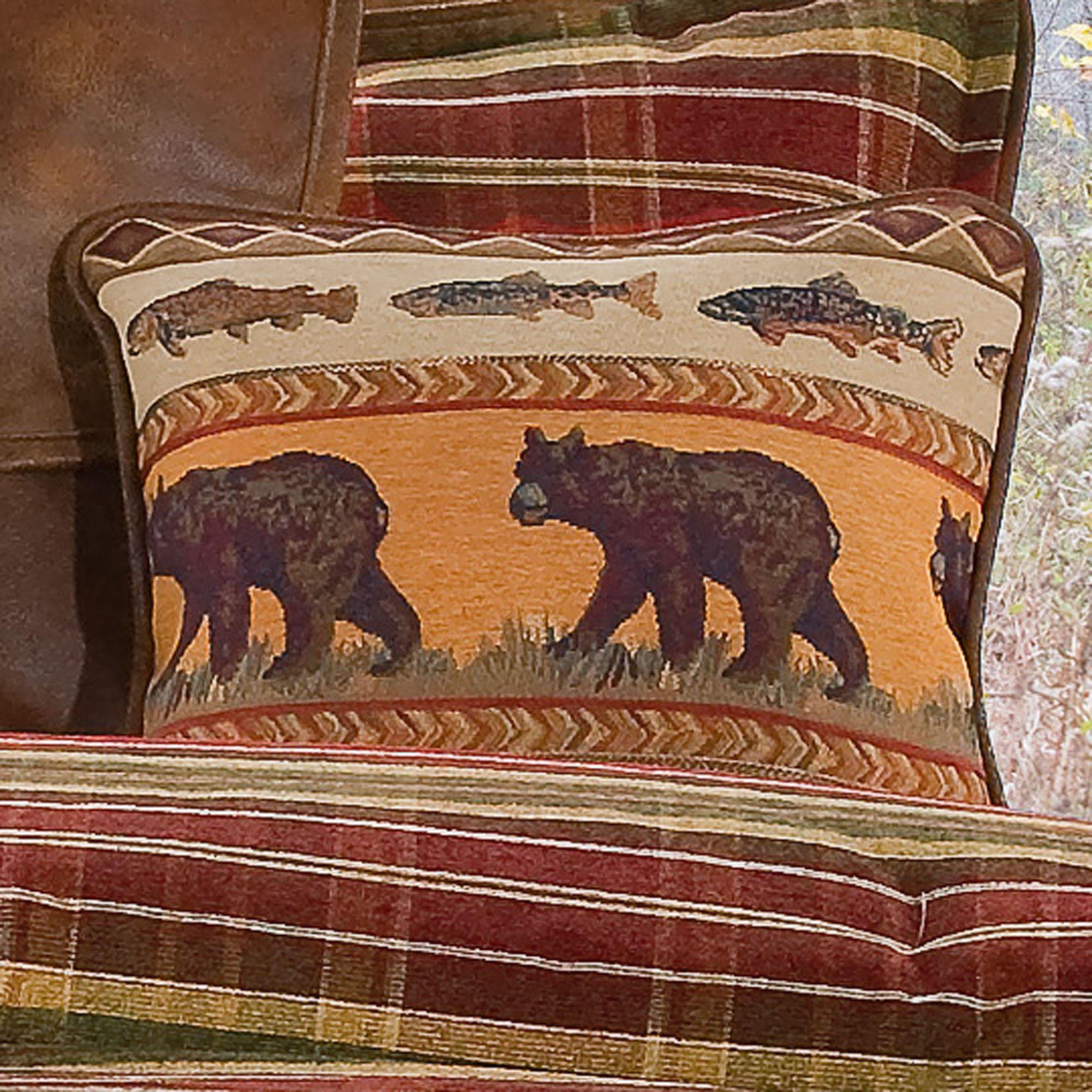 Gatlinburg rustic faux leather comforter bedding plaid