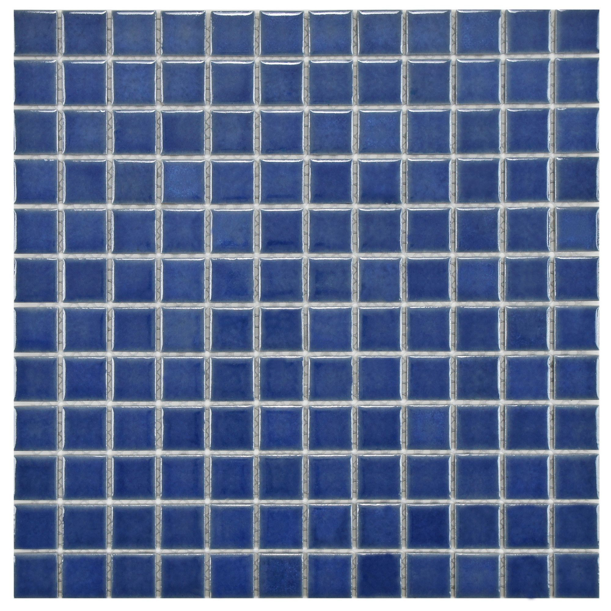 """Pool 1"""" x 1"""" Porcelain Mosaic Tile in Baltic Products"""