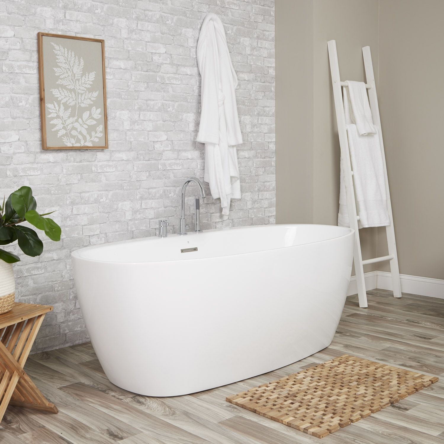 Luna Acrylic Double Ended Freestanding Tub Package With Images
