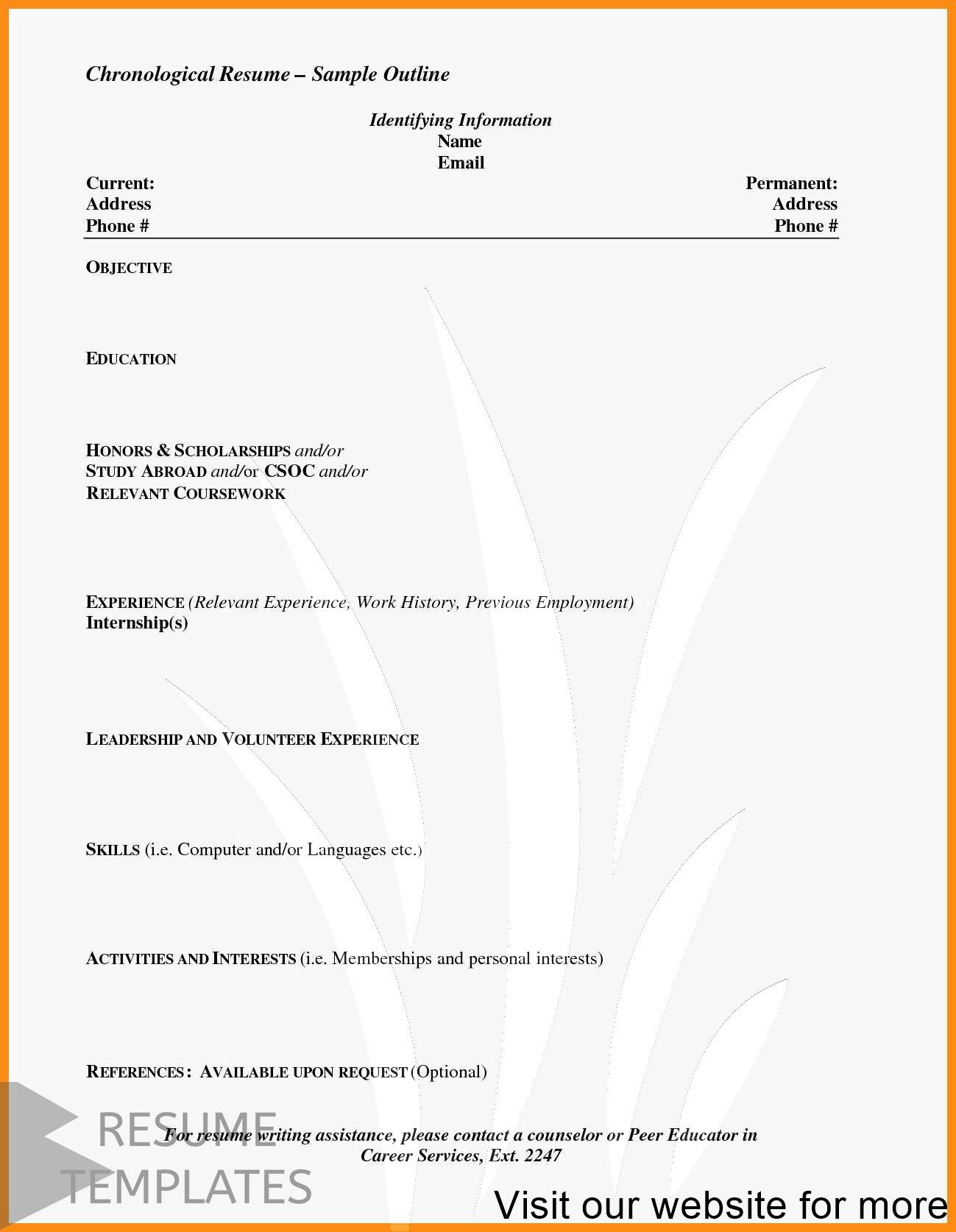 Resume Example Format Professional In 2020 Resume Examples