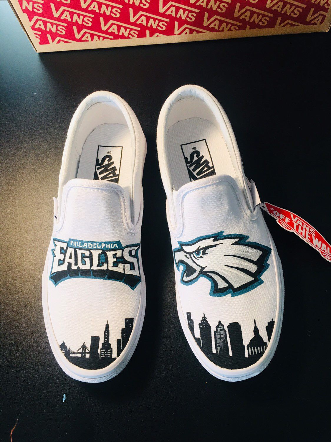 Eagles Nfl Vans With Images Philadelphia Eagles Shoes Custom