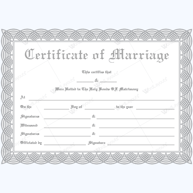 Marriage Certificate (1822 SLV 1)