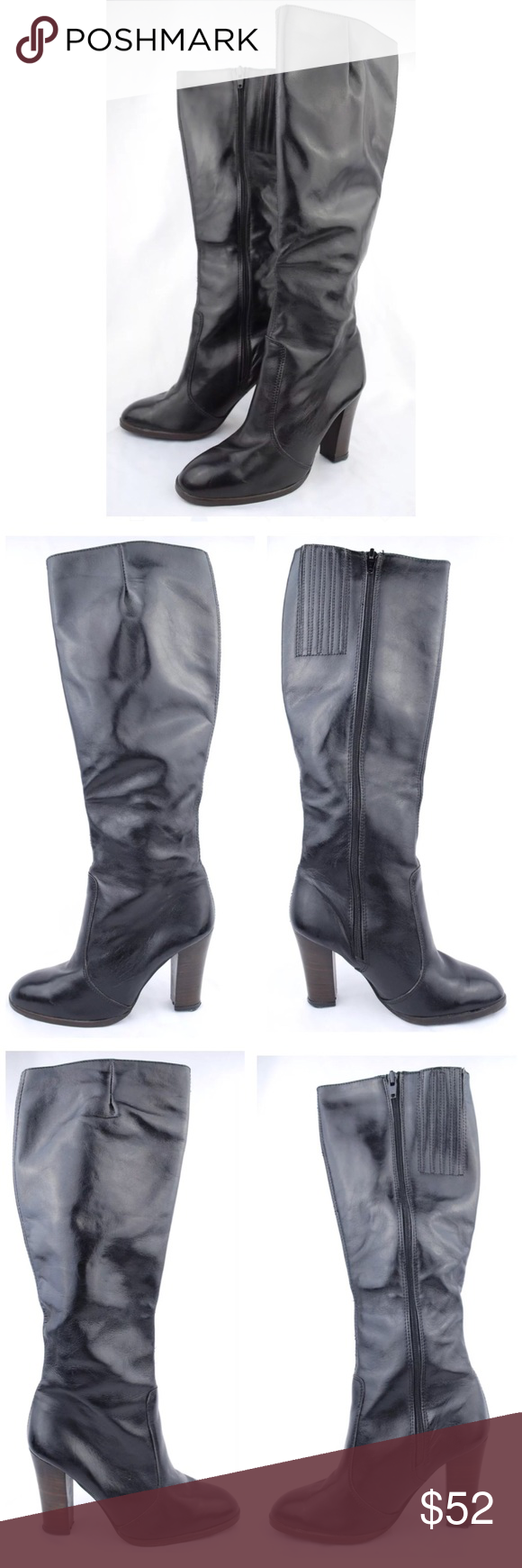 75248411ff Carlos Sanchez Women's Black High Heel Boots Carlos Sanchez Women's Black  High Heel Boots Size 6B
