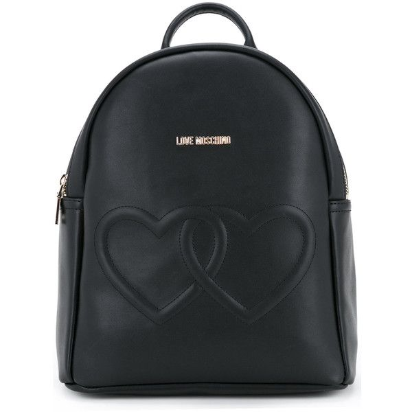 Love Moschino double hearts backpack ($350) ❤ liked on