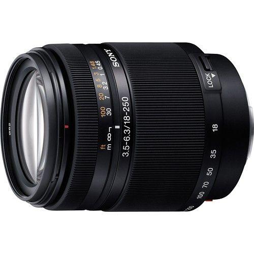 18 250mm F 3 5 6 3 Telephoto Zoom Lens For Select Sony Alpha Digital Slr Cameras Black Sal18250 Best Buy Zoom Lens Sony Lens Sony Digital Camera