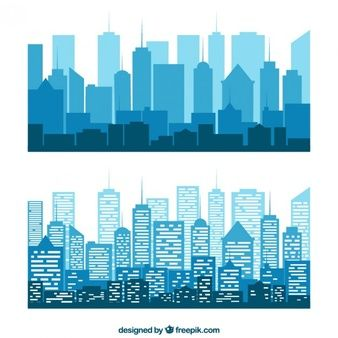 Download Limit Reached Building Silhouette Night Landscape City Drawing