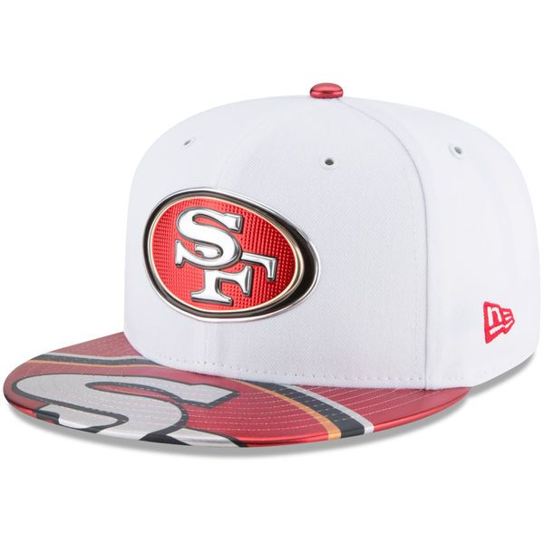71025f28c02 San Francisco 49ers New Era 2017 NFL Draft Official On Stage 59FIFTY Fitted  Hat - White