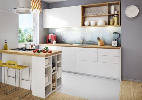 Optimale Kucheneinrichtung Raum Und Einrichtung In Einklang Bringen Einbaukuche Kuche Weiss Holz Kuche Einrichten