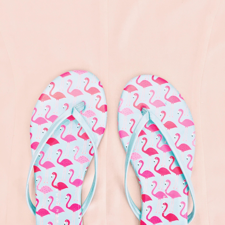 LC Lauren Conrad for Kohl\'s Flamingo Flip Flops | My Style | Pinterest