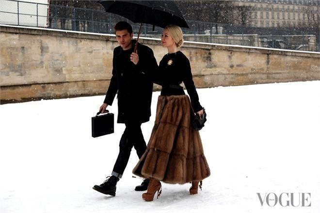 a la Paris Haute Couture 2013-a fur full skirt! Outstanding!!