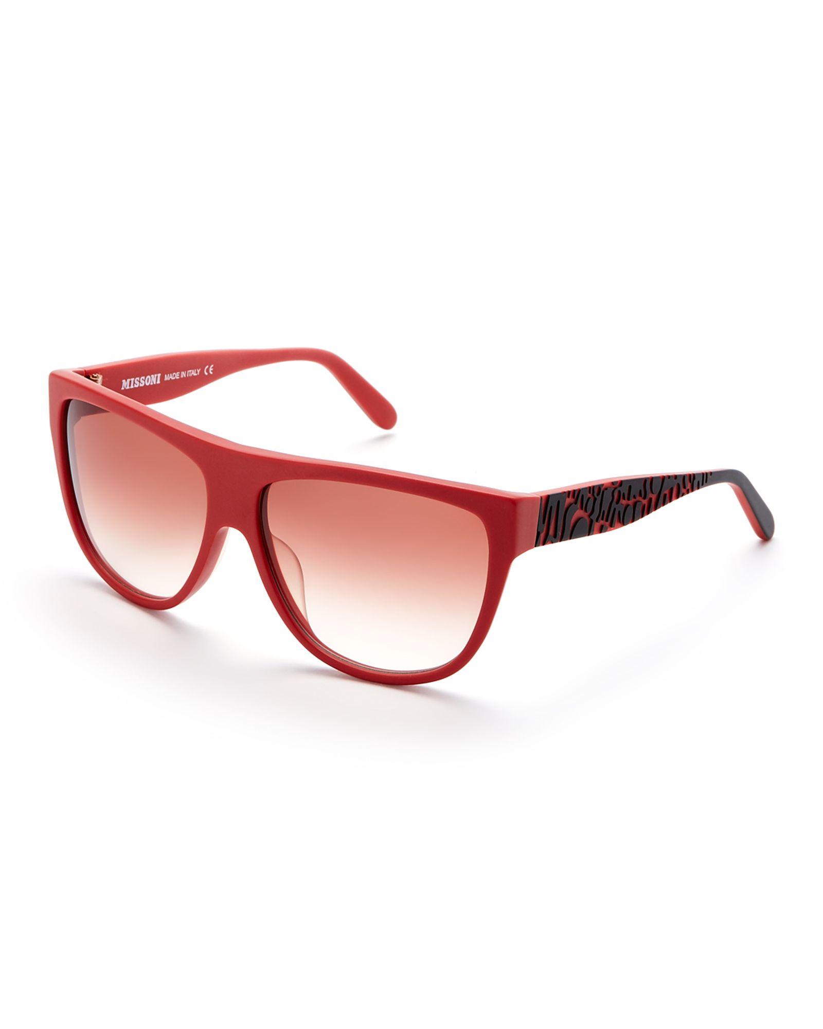 7953a2575f21a Missoni Dark Rose MI 801S XL Wayfarer Sunglasses    Apparel ...