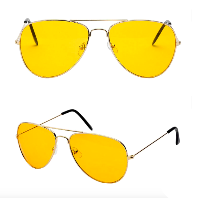 a0ee909741c1 Yellow Aviation Sunglasses - Night Vision