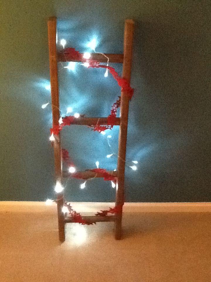 Ladder christmas tree