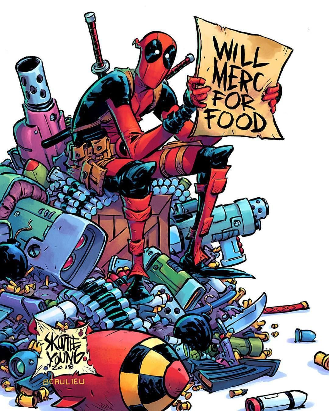 One Of My Two Variants For Deadpool 1 From Marvel New Ongoing Series Written By Me And Art By Nic Klein And Kenneth Scott H Deadpool Comic Deadpool Comics
