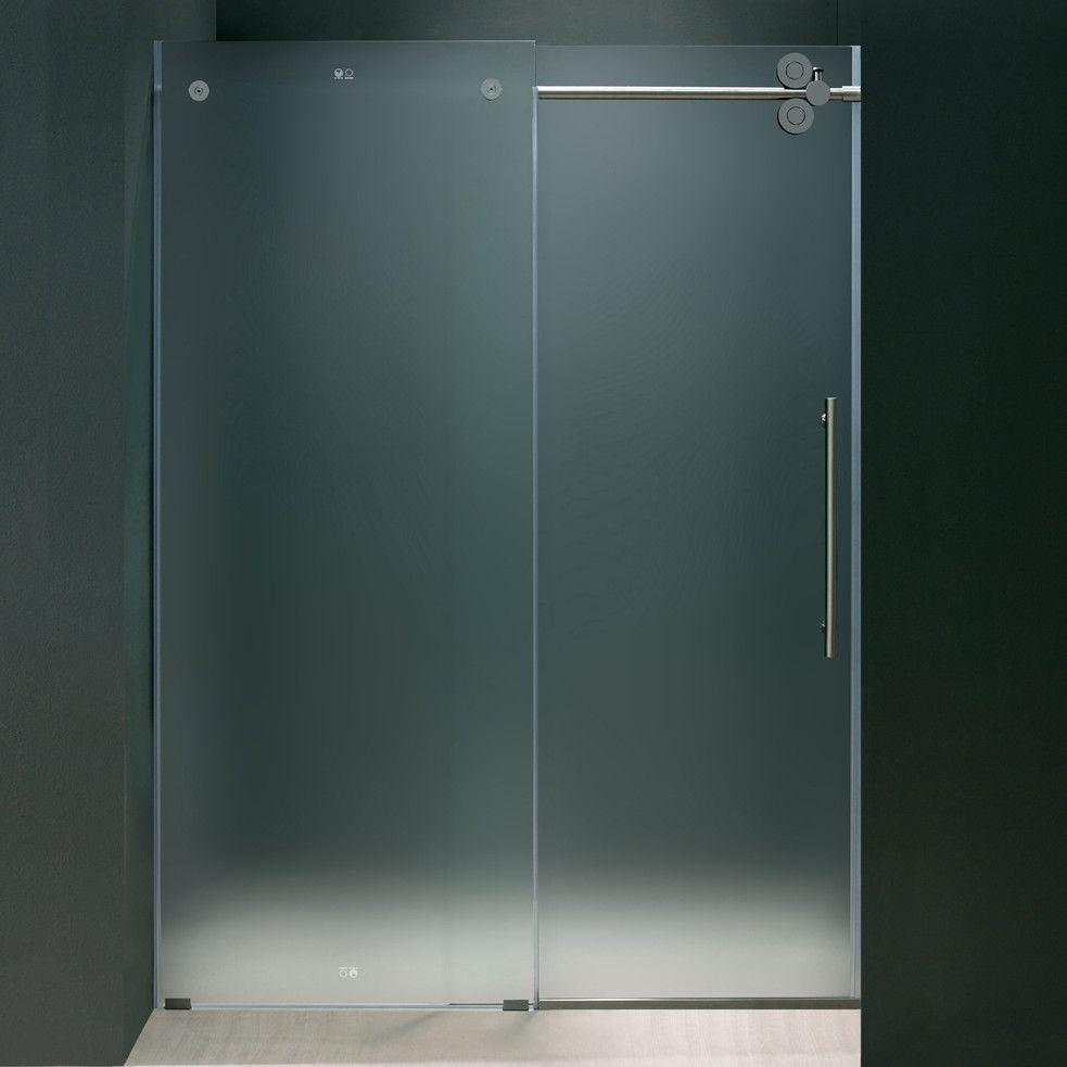Elan 56 To 60 In Frameless Sliding Shower Door With 375 In