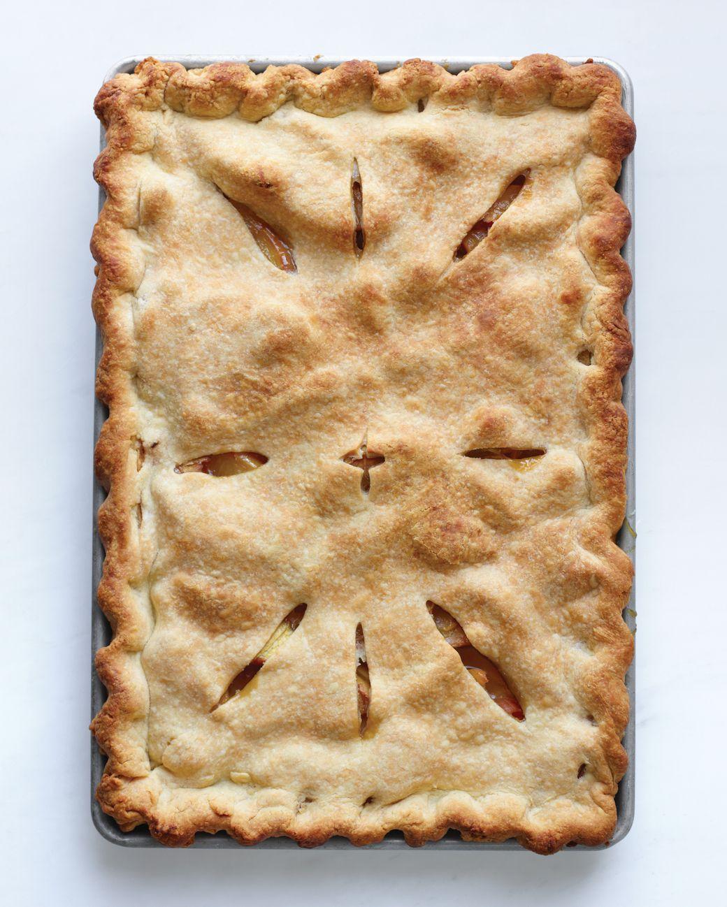 Peach Slab Pie Recipe Recipe Peach Slab Pie Slab Pie Recipes Slab Pie