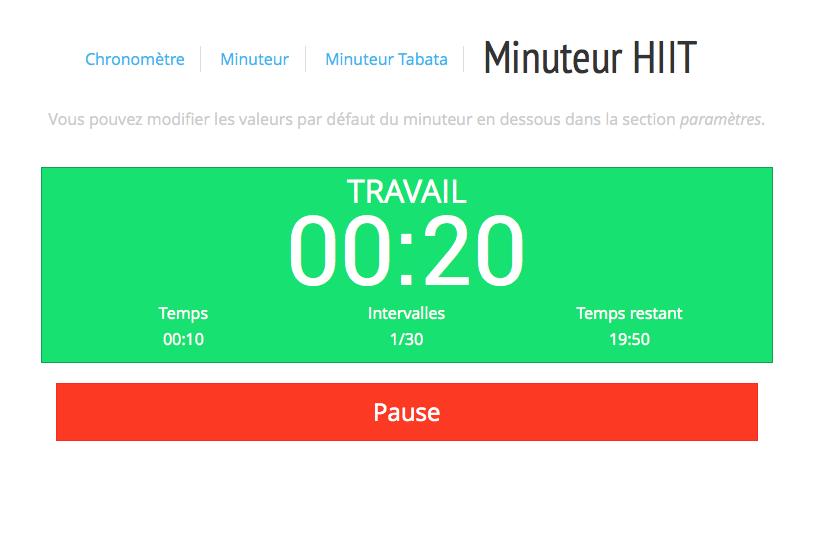 Minuteur HIIT | Hiit, Minuteur et Exercices de fitness