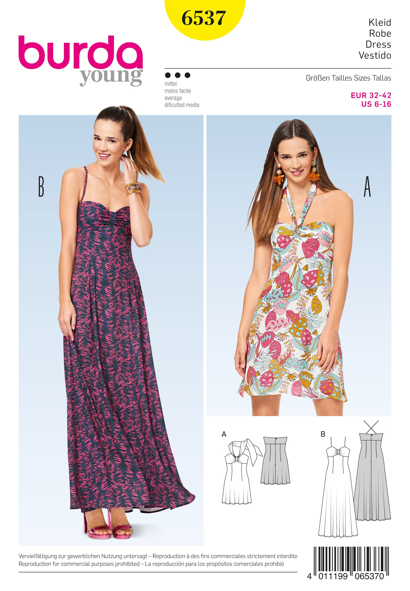 5007f02dd558 Purchase the Burda 6537 sewing pattern and read its pattern reviews. Find  other Dresses