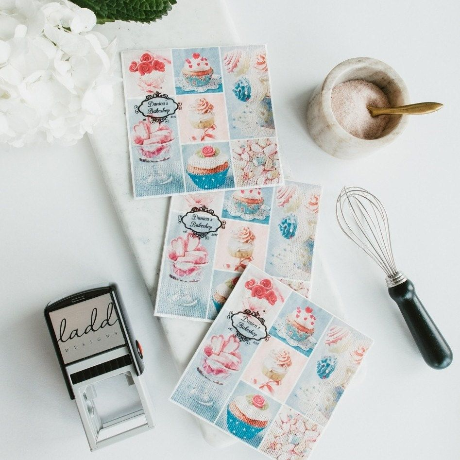 Custom Stamp, Logo Rubber Stamp, Personalized Stamp, Self