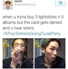 Image Result For Kpop Twitter Is Going To Jail Kpop Funny Kpop Memes Funny Memes