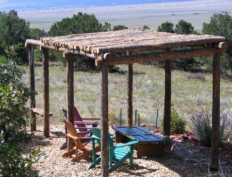 how to build a rustic pergola