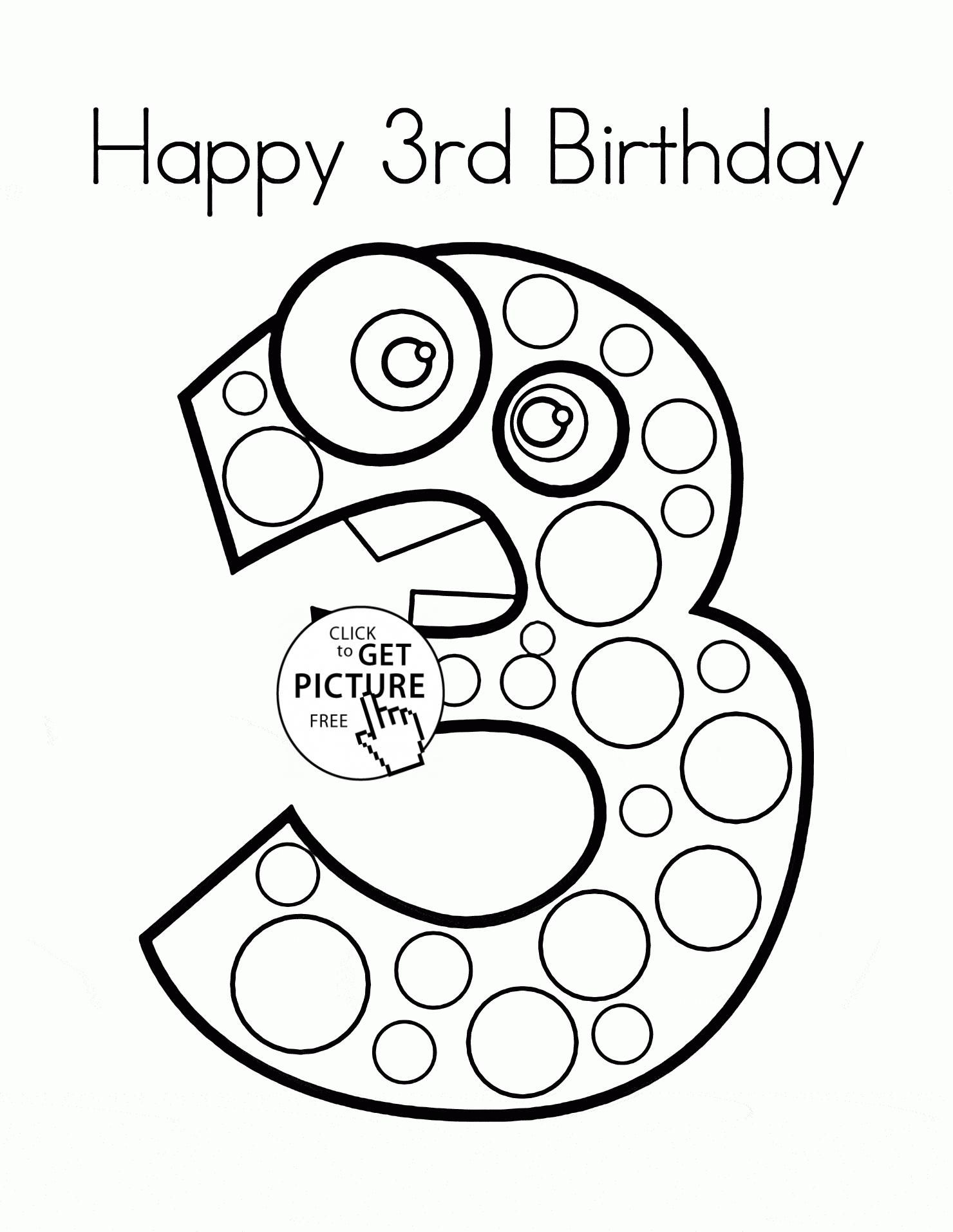 38 3rd Birthday Coloring Pages