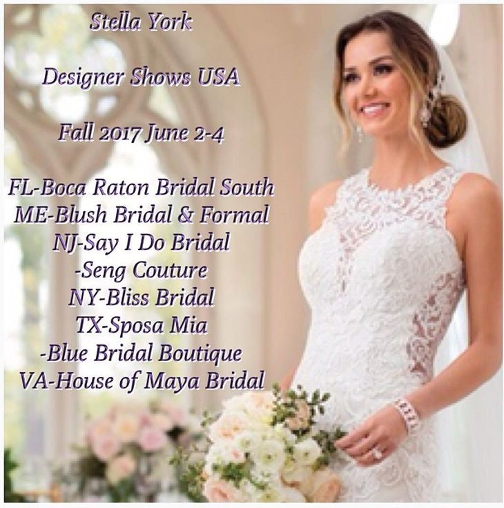 d70091b2a126 Stella York Trunk Show Fall 2017 for the brides of 2018 will offer the new  and best wedding dresses for an additional 10% ! Come say yes to the dress!