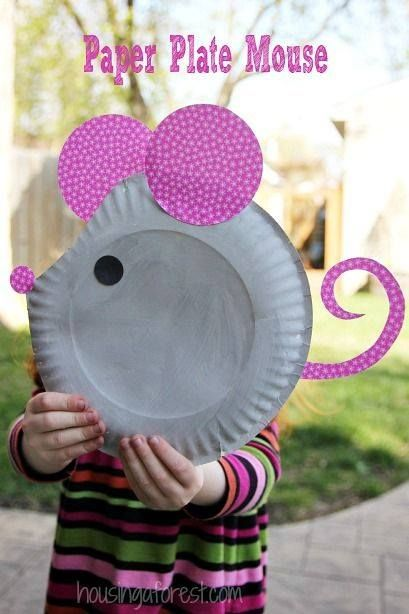 Paper Plate Mouse Craft - Housing a Forest Paper Plate Mouse ~ Easy Kids Craft Want great suggestions regarding arts and crafts? & School Letter M Crafts Paper Plate Mouse | Manualidad | Pinterest ...