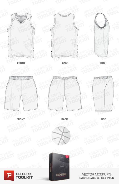 Download Basketball Jersey Vector Mockup Templates Prepress Toolkit Basketball Uniforms Design Basketball Jersey Basketball Uniforms