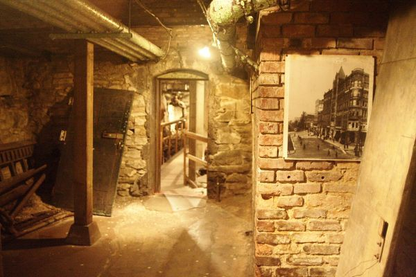 5ca9e4064f3 Underground City in Seattle - re-built the city on top of the old one after  a fire in 1910. (image courtesy Crashworks)