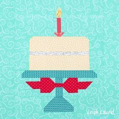 Birthday Cake Quilt Block Pattern By Lori Holt Made By Karin