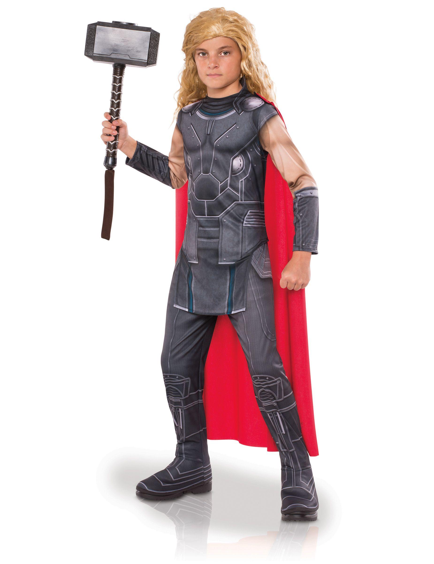 570d3357bc856 Der mächtige Thor Kinderkostüm Thor Ragnarok™ Lizenzartikel grau-rot ...