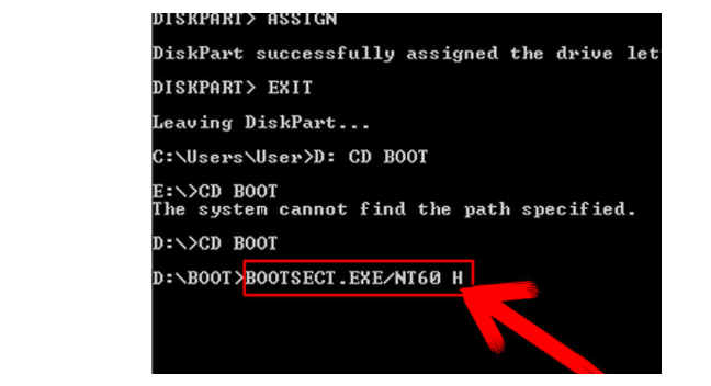 windows 7 usb download tool bootsect