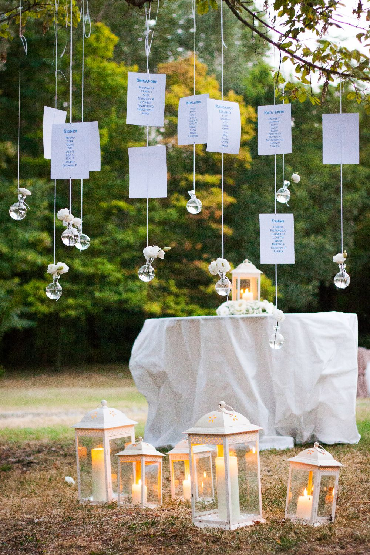 Matrimonio Tema Lanterne : Idea romantica per un tableau matrimonio elegante nei toni