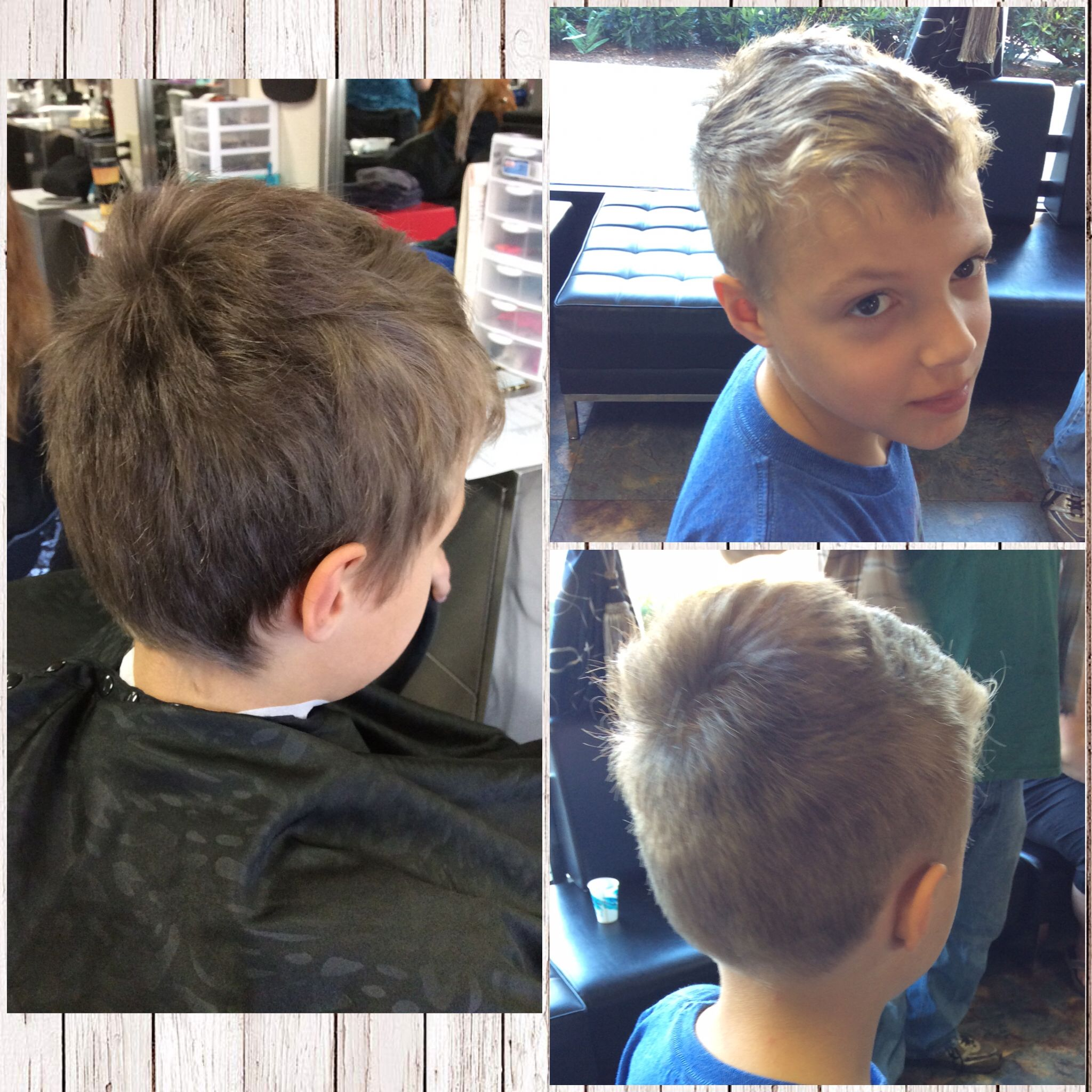 Stylish Little Boys Mens Cut Using A 2 Guard And Finger Length Ontop
