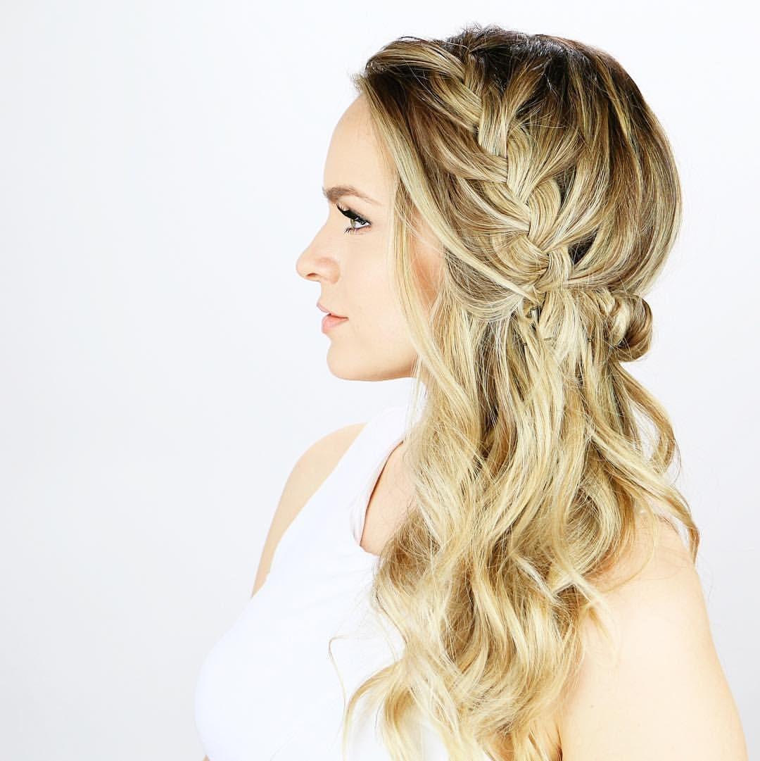 braided sideswept wedding hair ~ we ❤ this! moncheribridals.com ...
