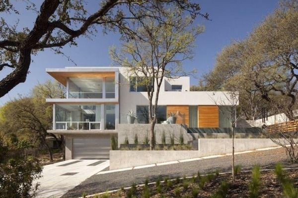 Haus Am Hang Kosten Einfahrt Raumhohe Glas Fenster Grundrisse