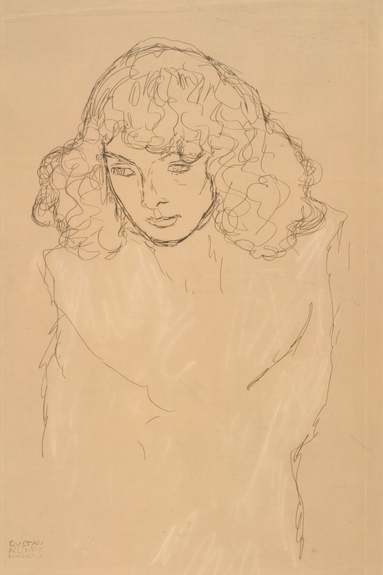 Gustav Klimt | Brustbild eines Mädchens - Head-and-Shoulders Portrait of a Girl | 1912/13 | Albertina, Wien