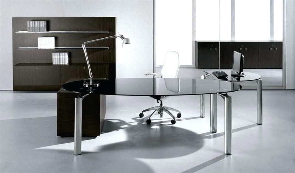 Home Office Glass Desks Home Office Glass Desk Excellent Living Regarding Modern Glass Office Desk 34454 Modern