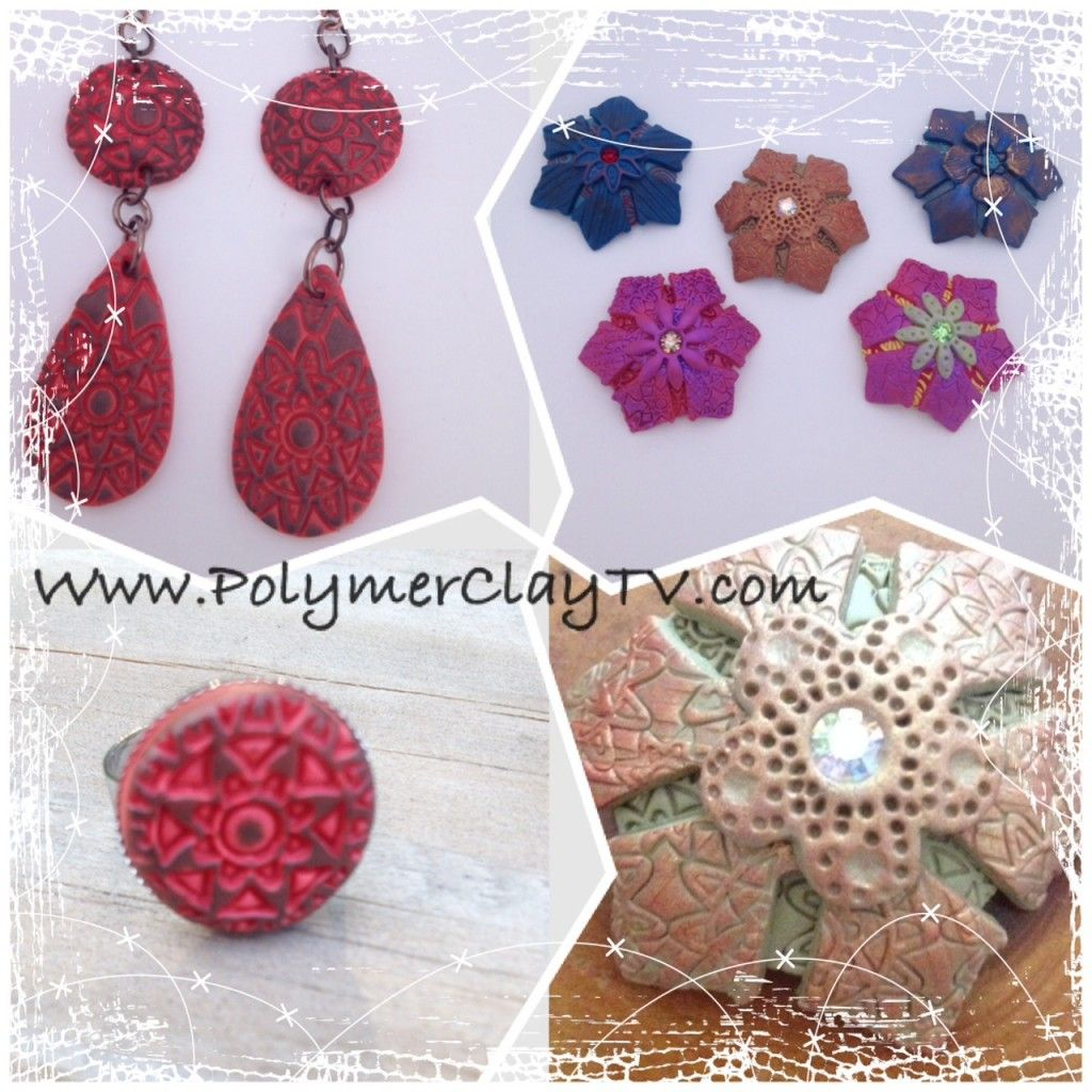 Learn how to make this fun and easy polymer clay jewelry.  http://bit.ly/texturedjewelry