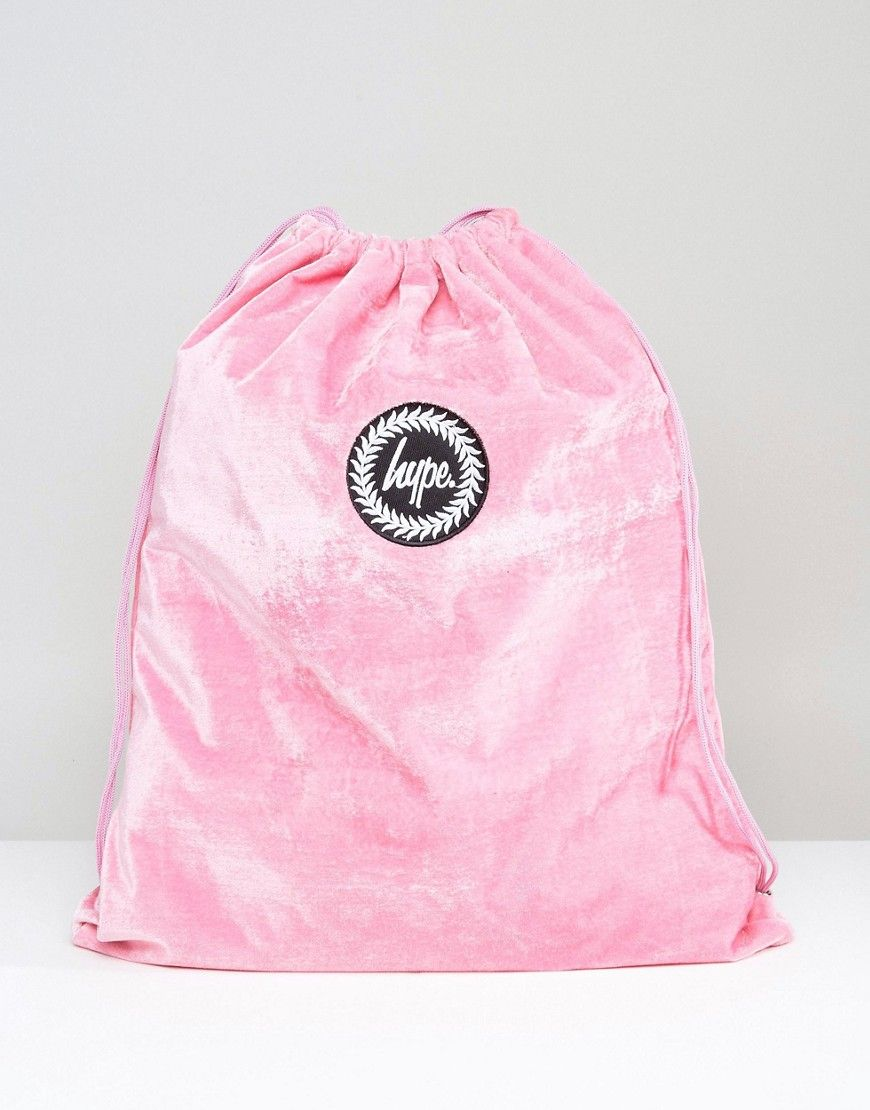 88c1930576 Hype Exclusive Pink Velvet Drawstring Backpack - Pink
