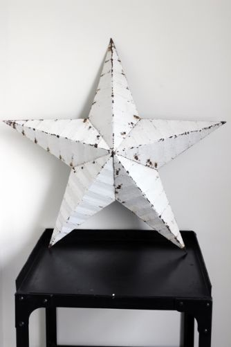Vintage Metal Star 22 Diameter White Might Work Either Side