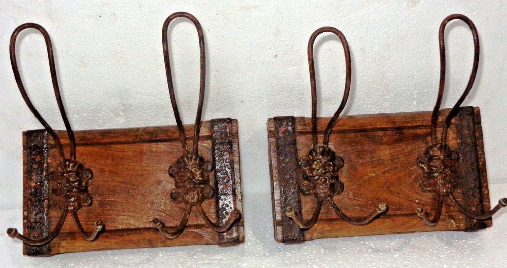 Antiques Hooks, Brackets & Curtain Rods Antique Selvage Reassembled Wall Hook Coat Hanger Kunti Original Ornament Q-1