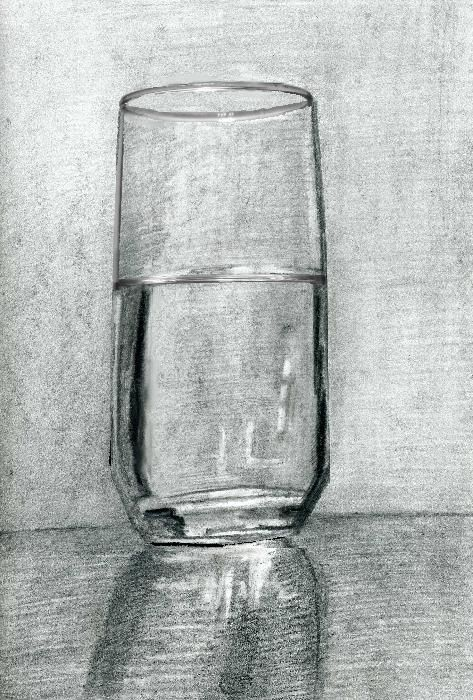 Drawing /Painting of a Glass of Water (Part 1)- Tips for Charcoal ...