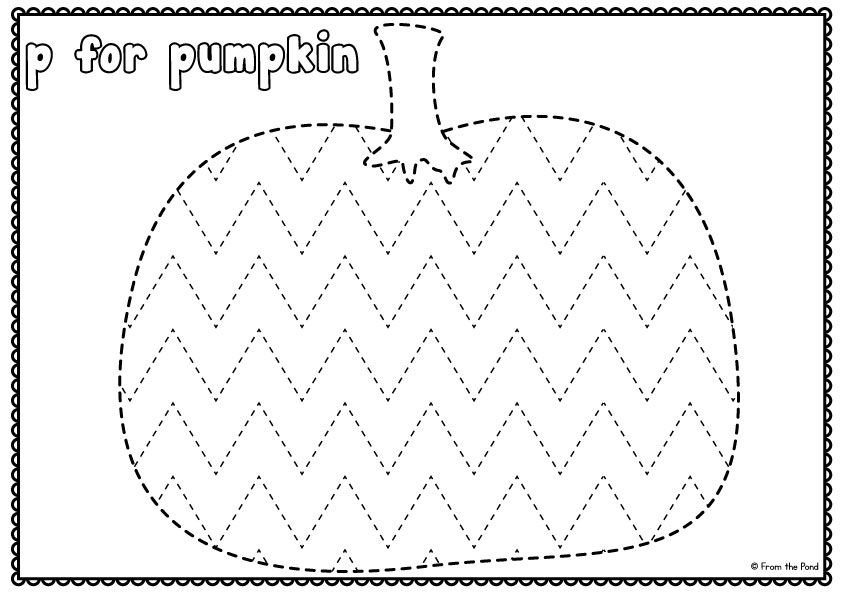 Big Shape Tracing Halloween Worksheets Halloween Preschool Pumpkins Preschool