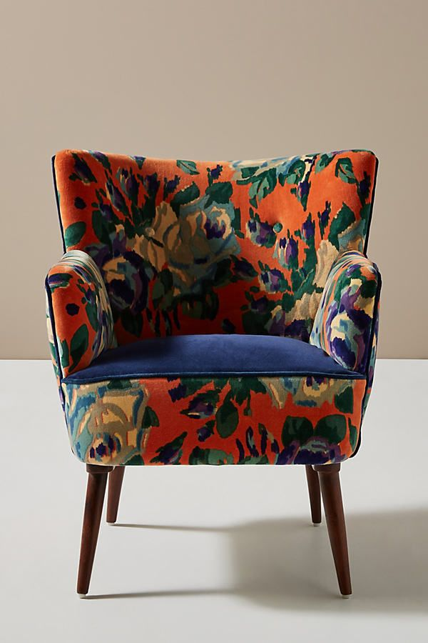 Best Velvet Tanya Petite Accent Chair By Anthropologie In Pink 400 x 300