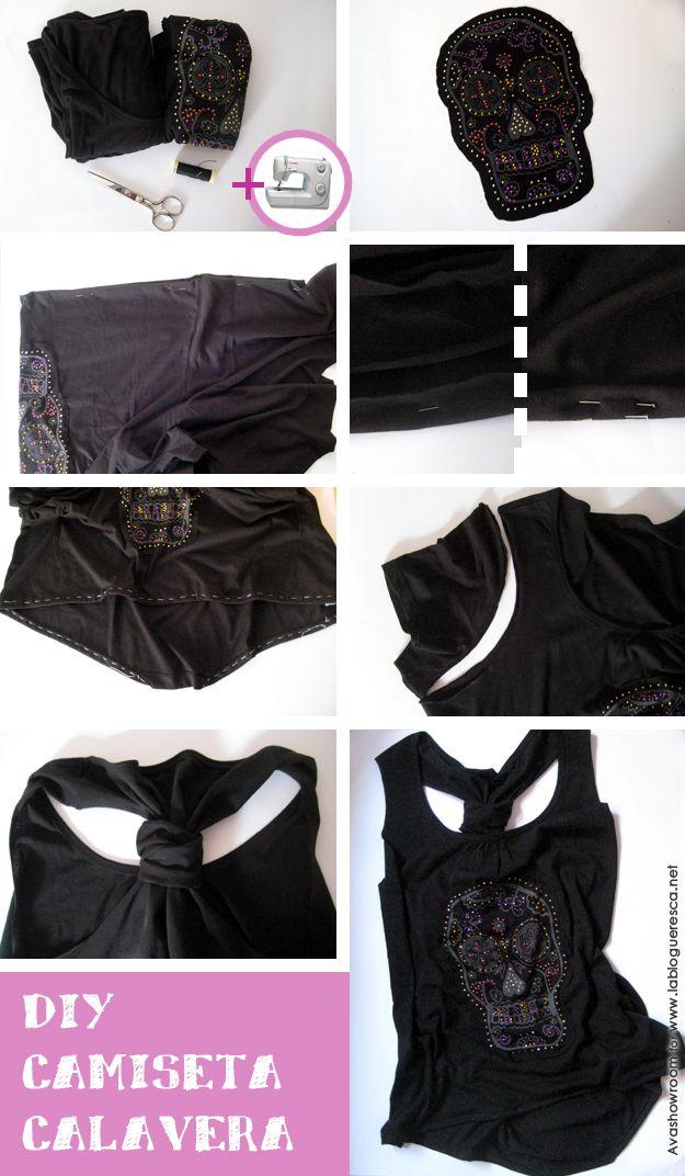 DIY camiseta calavera | La Blogueresca