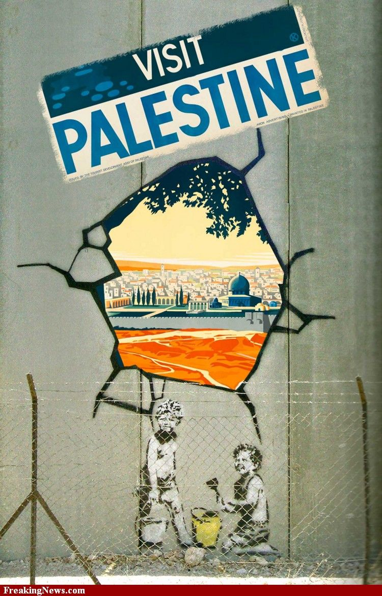 on the security wall between Israel and Palestine) Copy any Banksy ...